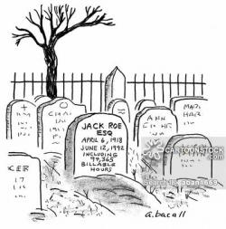 Drawn headstone funny cartoon