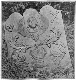 Drawn headstone old