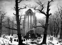 Drawn graveyard romantic period