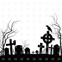 Drawn headstone silhouette