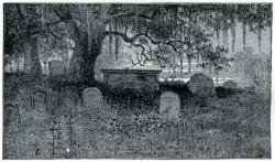 Drawn graveyard victorian
