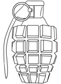 Drawn grenade pineapple