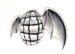 Drawn grenade wing