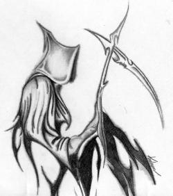 Drawn grim reaper