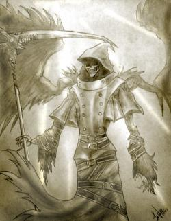 Drawn grim reaper badass