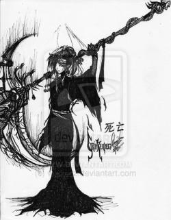 Drawn scythe darkness