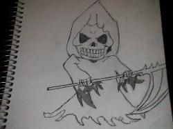 Drawn grim reaper chibi