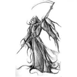 Drawn grim reaper death