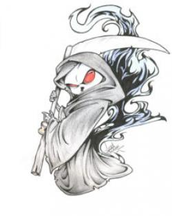 Drawn grim reaper detailed