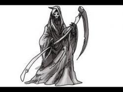 Drawn grim reaper epic