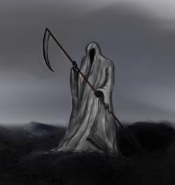 Drawn grim reaper figure drawing