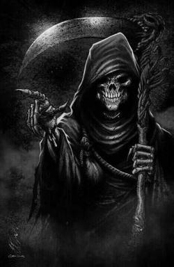 Drawn grim reaper grimm