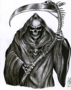 Drawn grim reaper real life