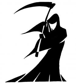 Drawn grim reaper simple