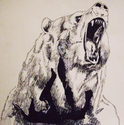 Drawn grizzly bear