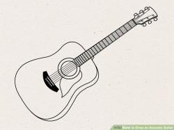 Drawn guitar