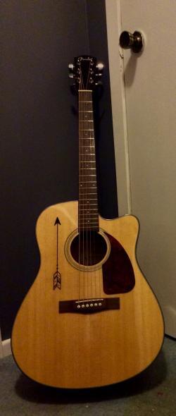 Drawn guitar extraordinary