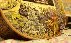 Drawn guitar lotr