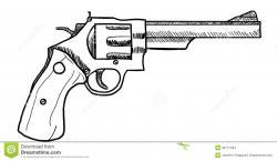 Drawn gun