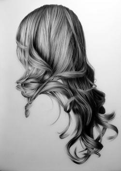 Drawn women long hair