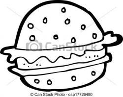 Drawn hamburger cartoon