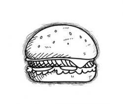 Drawn hamburger doodle