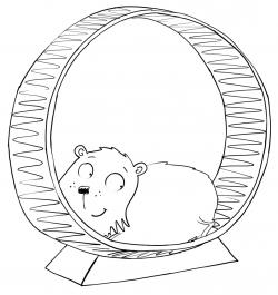 Drawn hamster hamster wheel