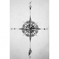 Drawn compass mandala
