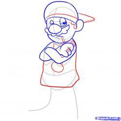 Drawn hat gangster