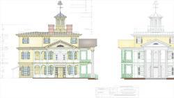 Drawn haunted house disneyland