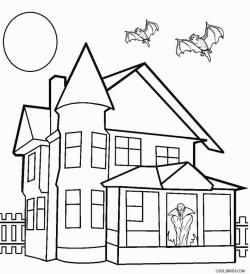 Drawn haunted house eerie