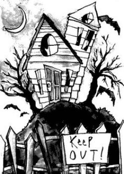 Drawn haunted house good mythical morning