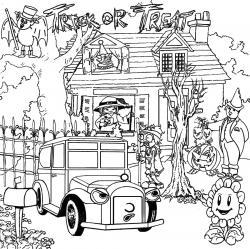 Drawn haunted house holloween