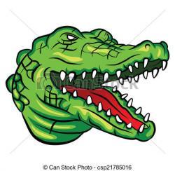 Drawn crocodile artwork