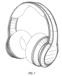 Drawn headphones headset