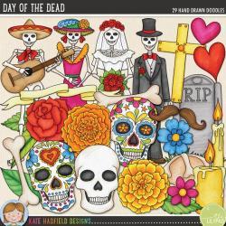 Drawn headstone dia de los muertos