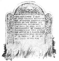 Drawn headstone grave