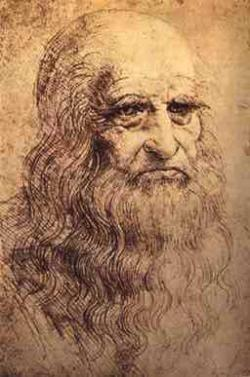 Drawn tombstone leonardo da vinci