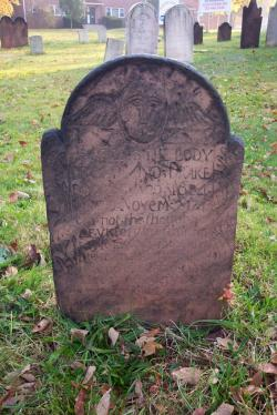 Drawn headstone plain