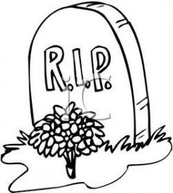 Drawn tombstone clipart