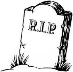 Drawn headstone rip