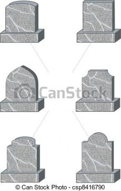 Drawn headstone vector