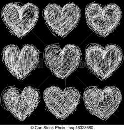 Hearts clipart chalkboard