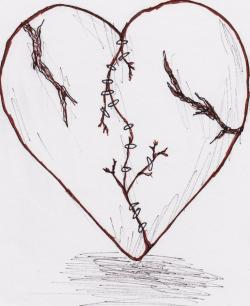 Drawn tattoo broken heart