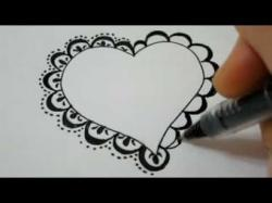 Drawn hearts fancy