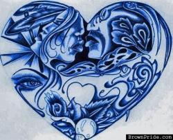 Drawn heart gangster