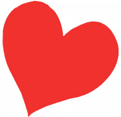 Drawn hearts transparent background