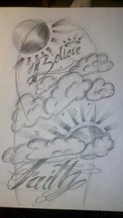 Drawn tattoo half sleeve