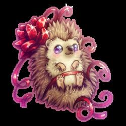Drawn hedgehog kawaii