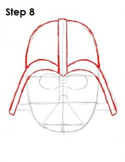 Drawn darth vader traceable